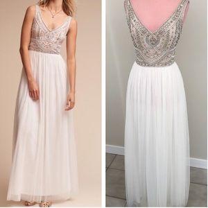 Anthropologie BHLDN White Sterling Dress NWOT